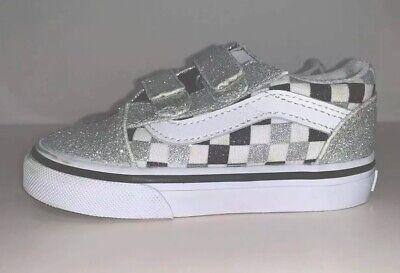 VANS Silver Velcro Infant/Toddler Size 6