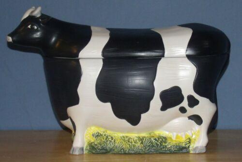 Vintage Warren Kimble hand painted Cow cookie jar