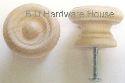 "1 1/2"" - Fancy Wood Knob Cabinet Pulls / Drawer Knob - Order 5 to 50 Knobs"