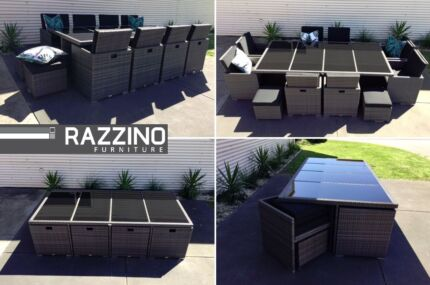 13 pcs 12 SEAT OUTDOOR dining set LARGEST CUBE TABLE