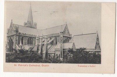 St Patricks Cathedral Dublin Ireland Vintage Postcard 812b