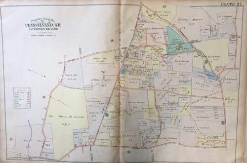 ORIGINAL 1900 J.L. SMITH, CHESTER COUNTY, PA, LINCOLN INSTITUTE, PLAT ATLAS MAP