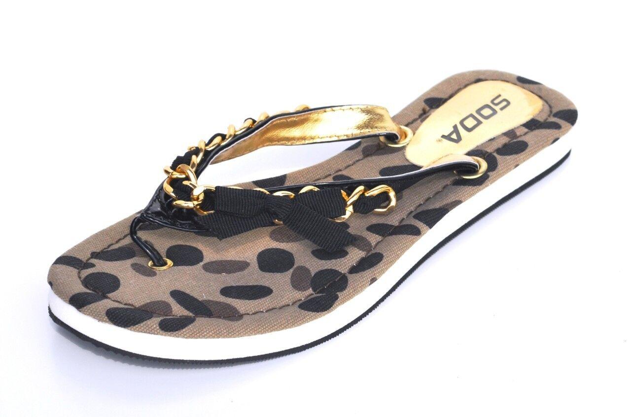 Soda Black Beach Flip Flops Womens Sandals Shoes Retail 38  Ebay-9452