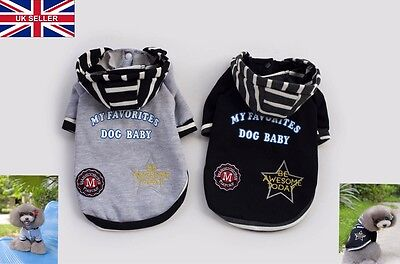 New Pet Dog Puppy Sweater Jumper Coat For Small Pet Dog Warm Costume Apparel UK  - Costumes For Dogs Uk