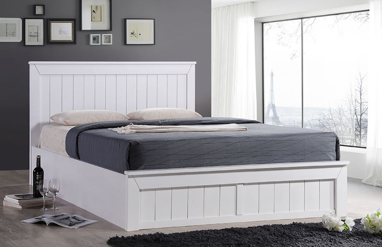 Cornwall Solid Wood Ottoman Storage Bed Frame White Various Sizes | eBay