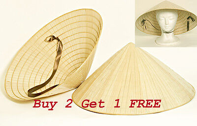 Oriental Asian Farmer Straw Bamboo Palm Leaf Vietnamese Vietnam RICE HAT (Straw Hat Oriental)
