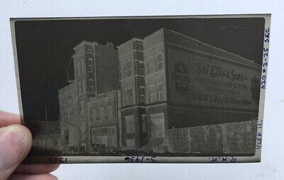VINTAGE PHOTOGRAPH NEGATIVE CHICAGO IL CITYSCAPE OLD RED LIGHT DISTRICT 1355