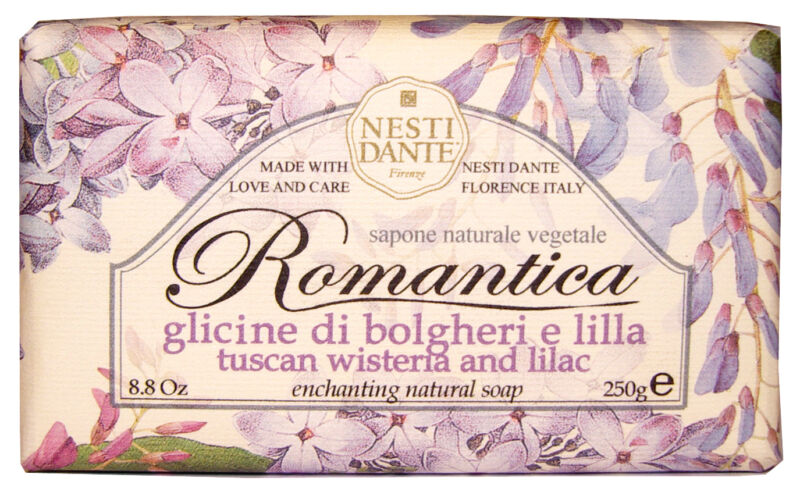 Nesti Dante Bar Soap Romantica Tuscan Wisteria and Lilac Bath Body Natural Scent