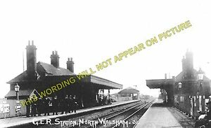 North Walsham Main Railway Station Photo. Worstead - Gunton. Wroxham to Cromer