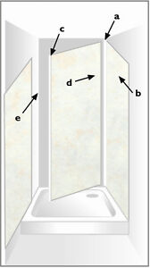 Shower Panel Fitting Kit 3 Sided Installation EBay