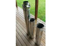 5 inch twin wall flue for wood burning stove