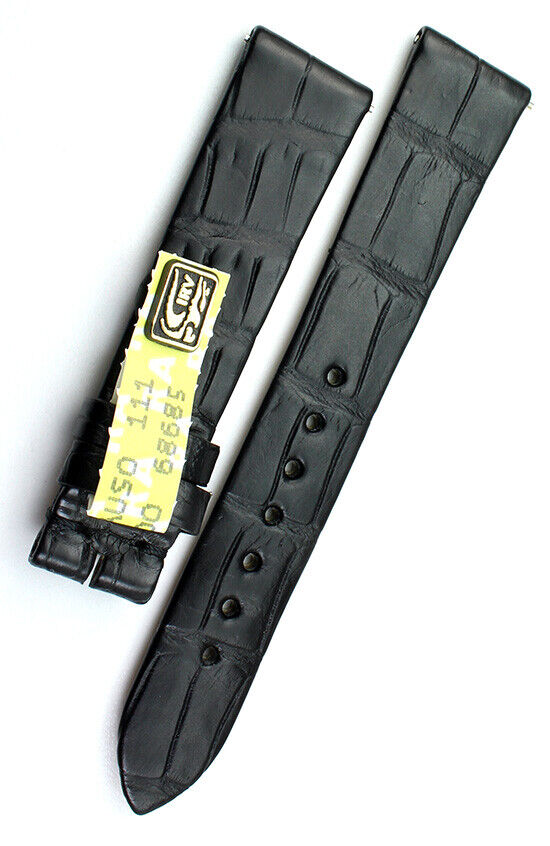 16mm Original Glashütte Alligator Watch Strap Uhrenarmband Krokodil Band