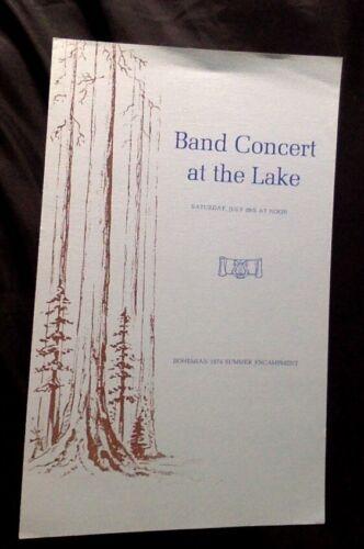 Bohemian Grove, Band Concert at the Lake, 1974
