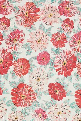 ANTHROPOLOGIE Wallpaper FLEURIST Flowers Red Pink Prepasted Roll USA NWT
