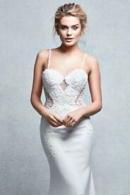 """Wed2b Signature Collection """"pea"""" fishtail wedding dress"""