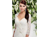 New unworn ivory Ronald Joyce Wedding Dress - Size 8