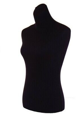 1 Black Jersey Female Mannequin Torsos Cover To Renew Dress Form Size S M