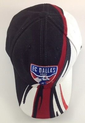 quite nice 5bc60 19ce4 FC Dallas 96 MLS Adidas Hat Cap Black White Red Adjustable One Size Fits All
