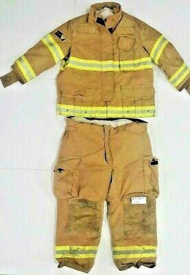 Firefighter Turnout Bunker Set Jacket 50x32s Pants 48r 48x29 Janesville Lion S59