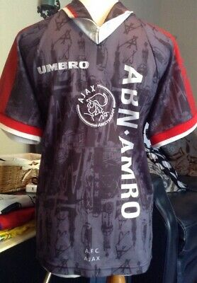 VINTAGE AJAX AMSTERDAM 1996/1997 UMBRO AWAY FOOTBALL SOCCER SHIRT JERSEY BOYS XL Ajax Away Jersey