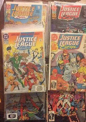 LOT OF 75 JUSTICE LEAGUE EUROPE/INTERNATIONAL DC COMICS