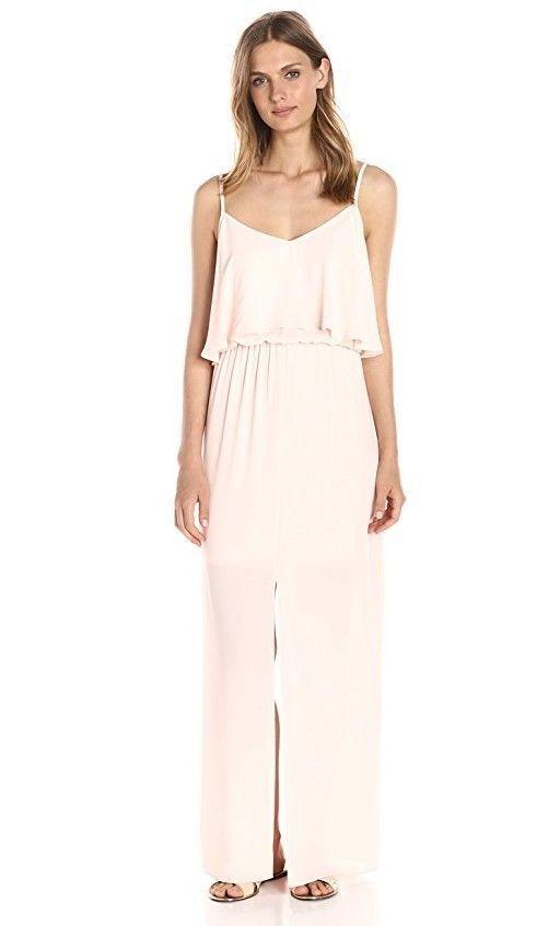 NEW LARK & RO Womens Sleeveless Tiered Top Maxi Dress SHELL