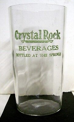 1920's Crystal Rock Beverages Soda Glass - Reading, PA