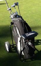 Golf Clubs RH Callaway Driver-Wilson Orca + bag + buggy Bundoora Banyule Area Preview