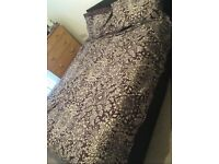 Double bed and mattress