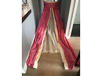 John Lewis Pink Bed / Cot Canopy - Curtains