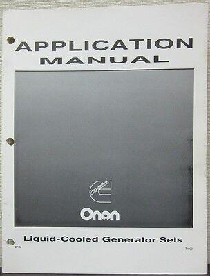 Onan Liquid-cooled Generator Sets Application Manual