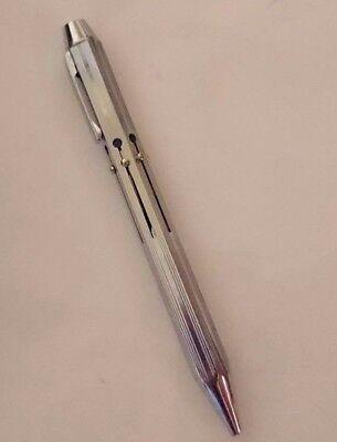 GERMAN Multi Colour Ballpoint pen SELDOM SEEN 6 Colours Chrome  1970s VINTAGE