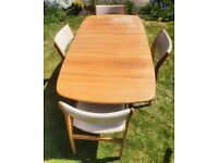 Genuine D-Scan extendable dining table & 4 chairs