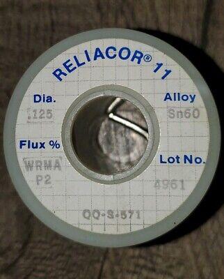 1lb Solder Alpha Metals Reliacor 11 Qq-s-571 Sn60 0.125 Dia. Buy 2 Get 1 Free