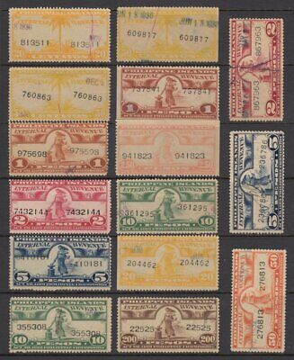 (G4363) PHILIPPINES - USA. OLD LARGE INTERNAL REVENUE FISCAL STAMPS