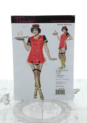 STM Room Service Party Costume Red 1x/2x (UK 18-20) Style 10192