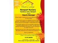 Deputy Manager Position available in Newport (Essex) Nursery