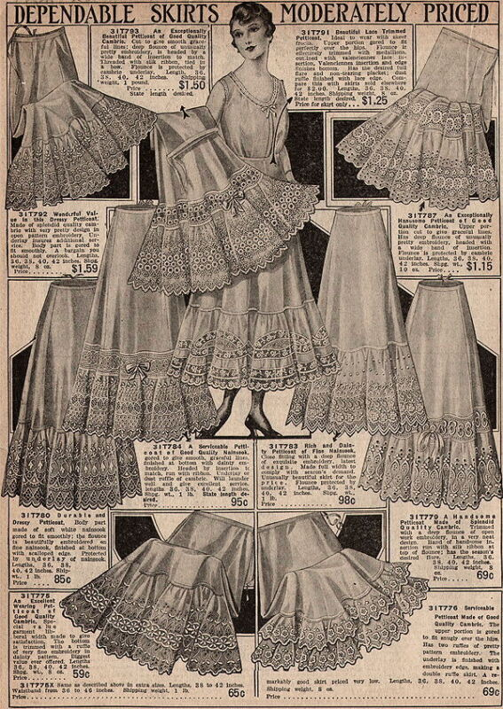 Messaline Silk Petticoats GLORIA SILK Taffeta LINGERIE Embroidery CATALOG PAGE