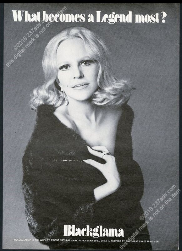 1975 Peggy Lee photo Blackglama fashion vintage print ad