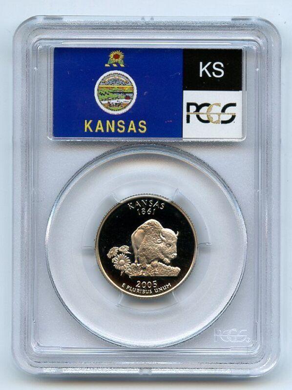 2005 S 25C Clad Kansas Quarter PCGS PR70DCAM