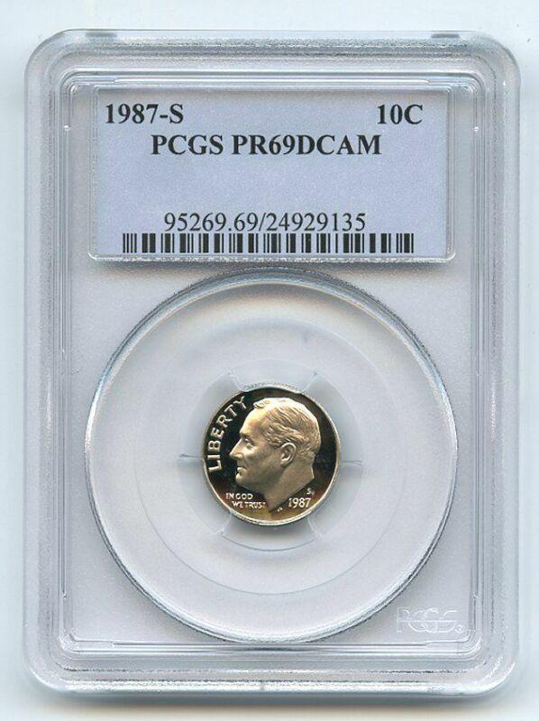 1987 S 10C Roosevelt Dime Proof PCGS PR69DCAM