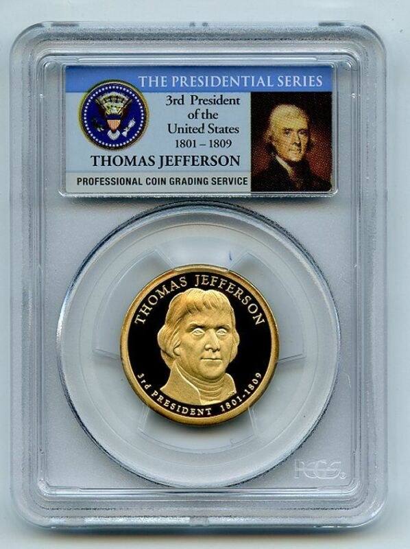 2007 S $1 Thomas Jefferson Dollar PCGS PR70DCAM