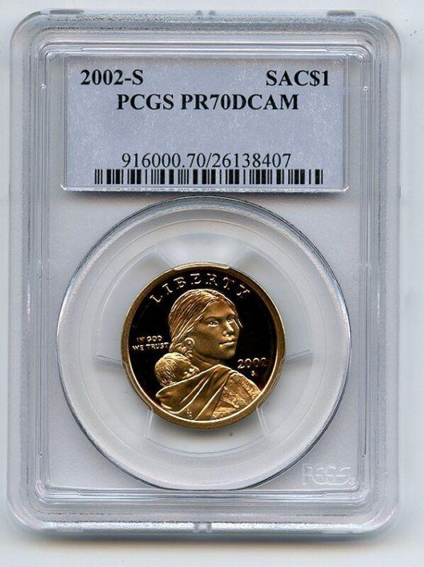 2002 S $1 Sacagawea Dollar PCGS PR70DCAM