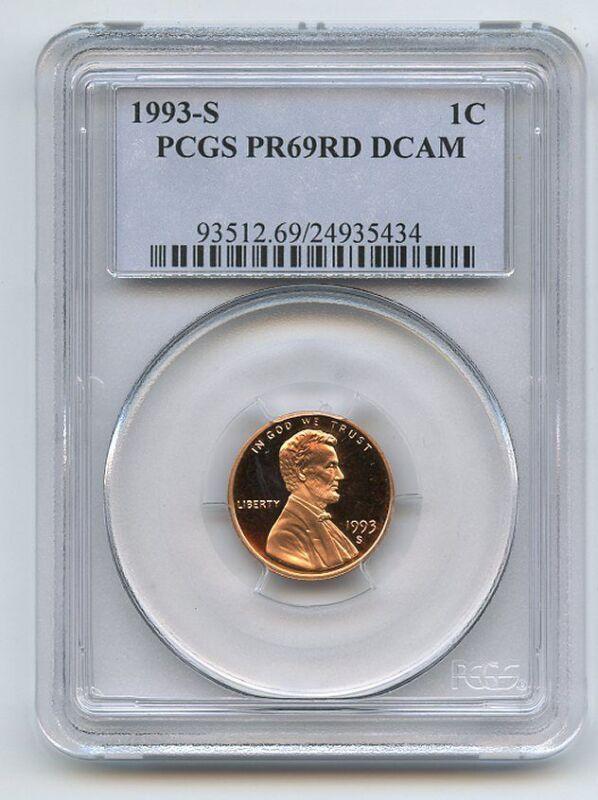 1993 S 1C Lincoln Cent Proof PCGS PR69DCAM