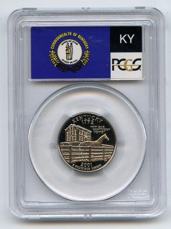 2001 S 25C Clad Kentucky Quarter PCGS PR70DCAM