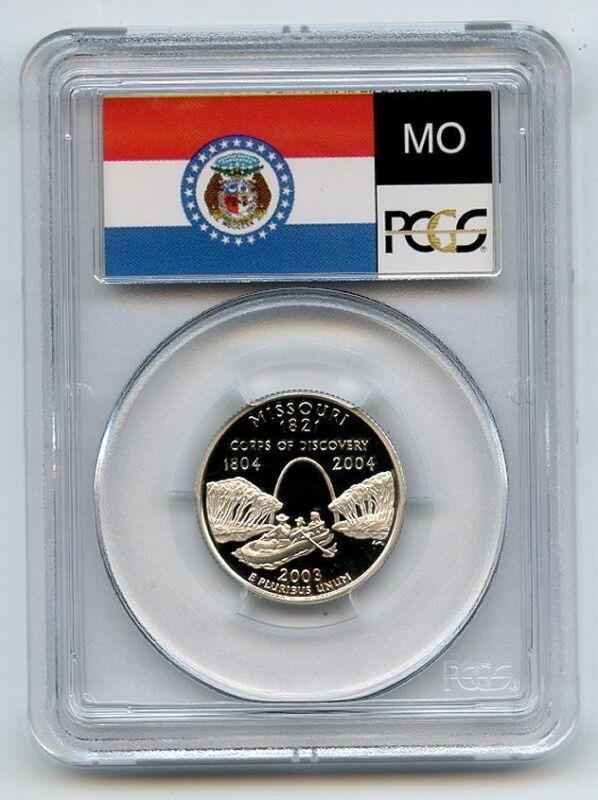2003 S 25C Silver Missouri Quarter PCGS PR70DCAM