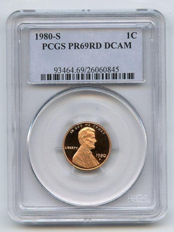 1980 S 1C Lincoln Cent Proof PCGS PR69DCAM