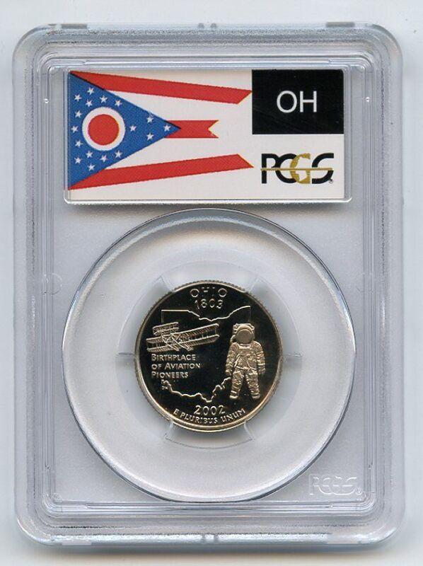 2002 S 25C Clad Ohio Quarter PCGS PR70DCAM