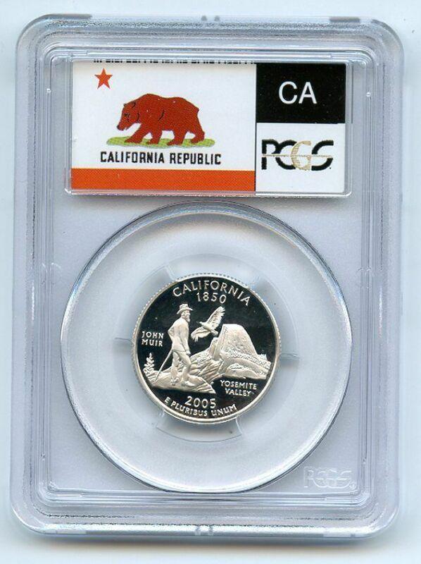 2005 S 25C Silver California Quarter PCGS PR69DCAM