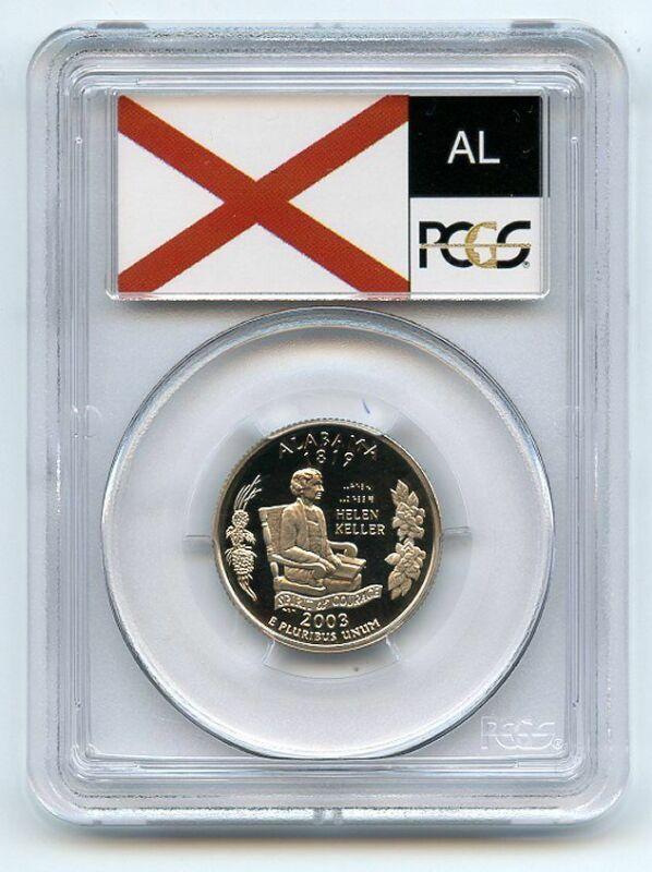 2003 S 25C Clad Alabama Quarter PCGS PR69DCAM